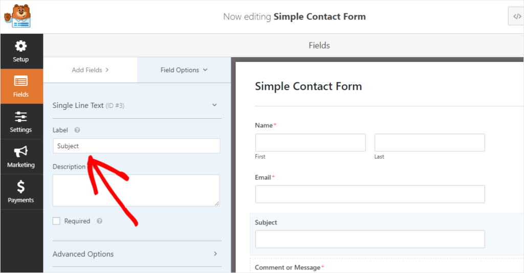 Forms Plugin for WordPress Email Fields on Field Order